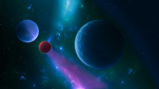 космос, арт, бездна, вселенная, планеты