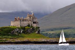 Замок Дуарт (Шотландия) обои для рабочего стола 2326x1556 замок, дуарт, шотландия, города, дворцы, замки, крепости, каменный, парус, вода