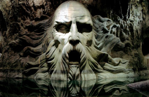 кино фильмы, harry potter and the chamber of secrets, салазар, слизерин, подземелье, голова, статуя