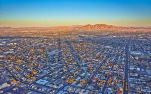 города, лас-вегас , сша, панорама