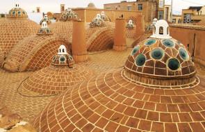 иран, плитка, здания, крыши