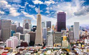 сша, америка, современные здания, hdr, калифорния, американские города, лето, 4k, сан-франциско