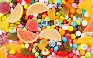 конфеты, россыпь, драже, мармелад