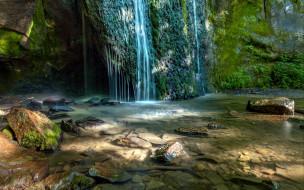 камни, водопад