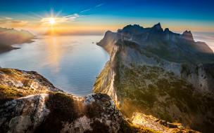 sunset, горы, рассвет