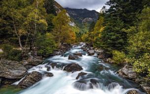 река, поток, горная