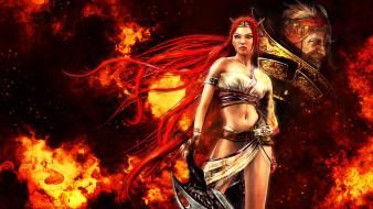 злодей, Нарико, рыжая, оружие, огонь
