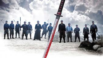кино фильмы, 13 убийц, меч, отряд, самураи, тучи, камни, кровь