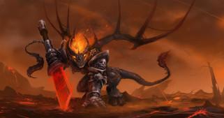 меч, латы, демон