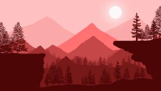 векторная графика, природа , nature, горы
