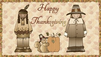 обои для рабочего стола 1920x1080 праздничные, день благодарения, поселенец, тыква, шляпа, индеец, собака