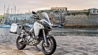 побережье, пирс, multistrada 950, ducati, мотоциклы, 2018