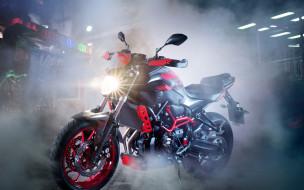 мотоциклы, yamaha, mt-07, дым