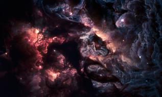 космос, галактики, туманности, туманность