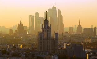 дома, панорама, город, здания