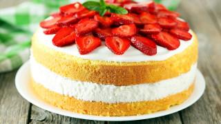 торт, клубника