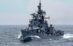 ins ranvijay,  d55, корабли, крейсеры,  линкоры,  эсминцы, раrajput, class, военный, корабль, эскадренный, миноносец, военно-морской, флот, индии