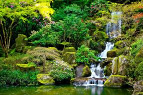 обои для рабочего стола 2560x1706 природа, водопады, каскад