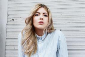 лицо, рубашка, блондинка