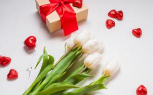 фон, цветы, подарок