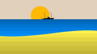 векторная графика, природа , nature, море