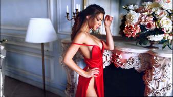 платье, цветы, камин, Юлия Зубова