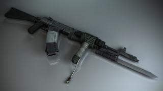 оружие, 3d, автомат