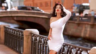 стиль, платье, река