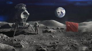 космонавт, космос, Луна, флаг, луноход, Земля