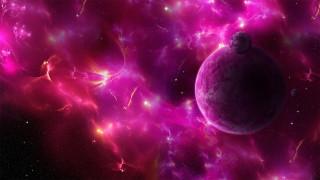 планеты, туманность, звезды, космос, вселенная