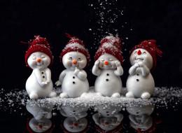 снеговики, забавные