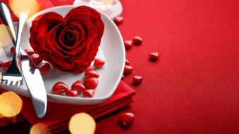 роза, сердечки