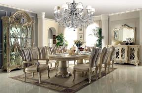 стол, стулья, люстра