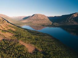 плато путорана, природа, пейзажи, озеро, горы, лес, россия, плато, путорана, сибирь