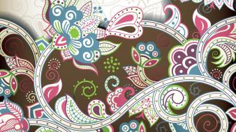 векторная графика, цветы , flowers, узор, цвет, фон