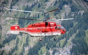 спасатель, швейцария, полет, вертолет