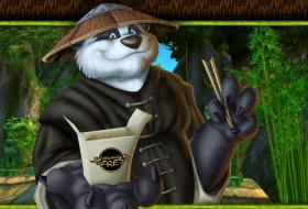 еда, палочки, шляпа, панда, бамбук