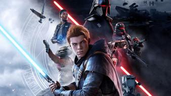 постер, 2019 star wars jedi fallen order, видеоигры
