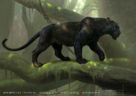 природа, calendar, 2019, ягуар, животное