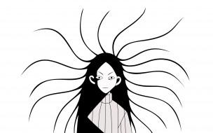 девочка, волосы, свитер