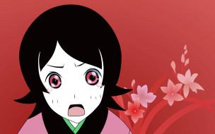 лицо, эмоции, девочка, цветы