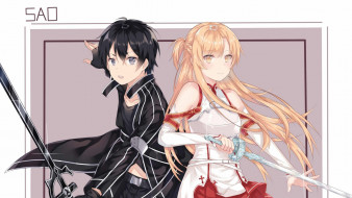 аниме, sword art online, мастера, меча, онлайн