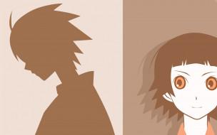 аниме, sayonara zetsubo sensei, силуэт, лицо, девочка, учитель