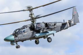 вертолёт, полёт, КА- 52, боевой, Аллигатор, вертушка