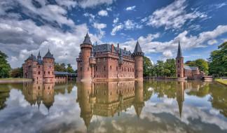 haar castle, города, замки нидерландов, простор