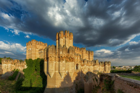 castillo de coca, города, замки испании, простор