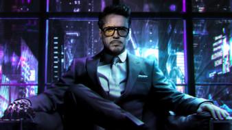 cyberpunk 2077, видеоигры, tony stark