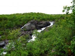 полуостров рыбачий, природа, пейзажи, ручей, россия, рыбачий, полуостров, скалы