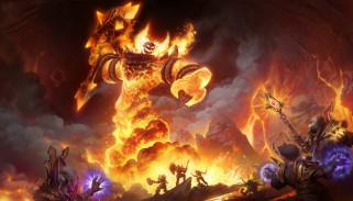 пламя, бой, фон, существо