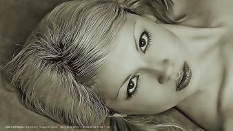 2019, calendar, женщина, девушка, лицо, взгляд, блондинка